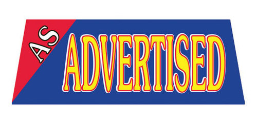 AS ADVERTISED Car Dealer Windshield banner sign