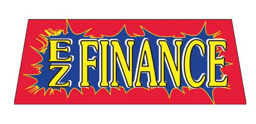 EZ FINANCE Car Dealer Windshield banner sign