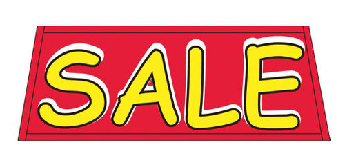 SALE red/yellow Car Dealer Windshield banner sign