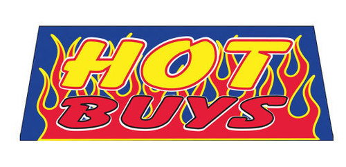 HOT BUYS Car Dealer Windshield banner sign