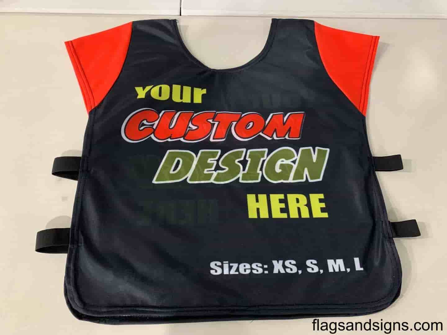 Referee style vest with print LARGE