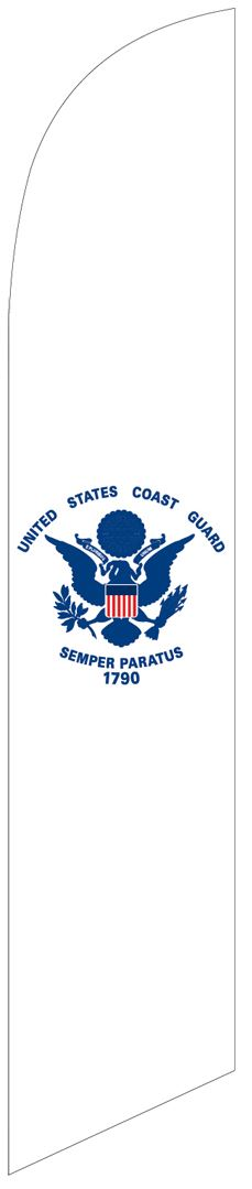 US Coast Guard swooper feather military flag