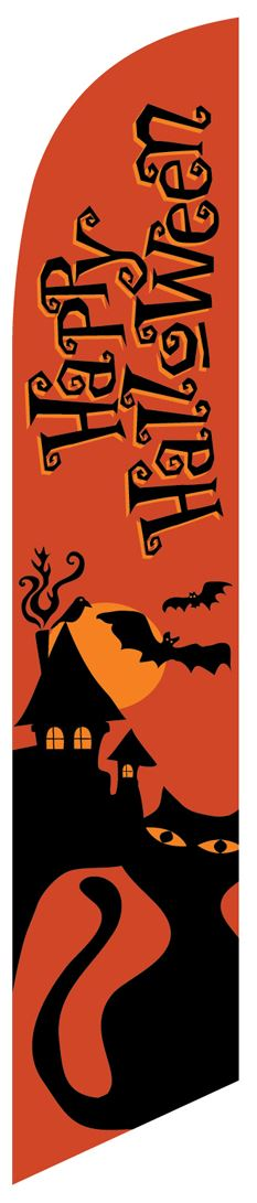 Halloween swooper banner sign flag
