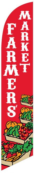 Farmers market produce swooper feather banner sign flag