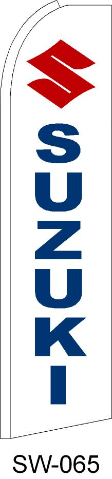 SUZUKI auto dealer swooper feather banner sign flag