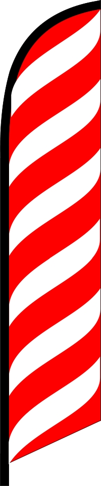 RED lines waves swooper banner sign flag