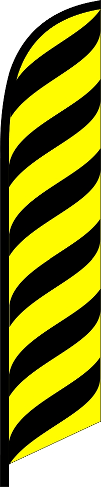 BLACK YELLOW lines waves swooper banner sign flag