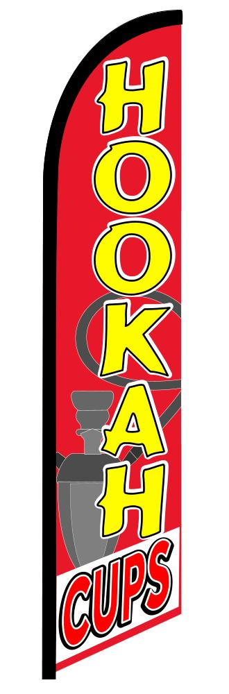 HOOKAH CUPS swooper banner sign flag