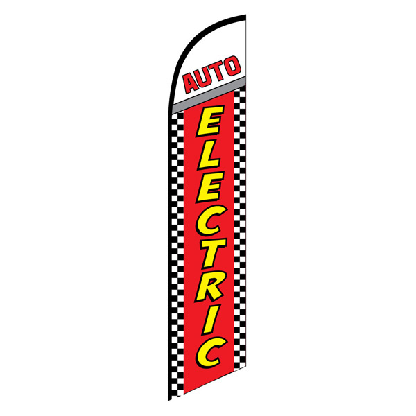 Auto electric service swooper feather banner flag