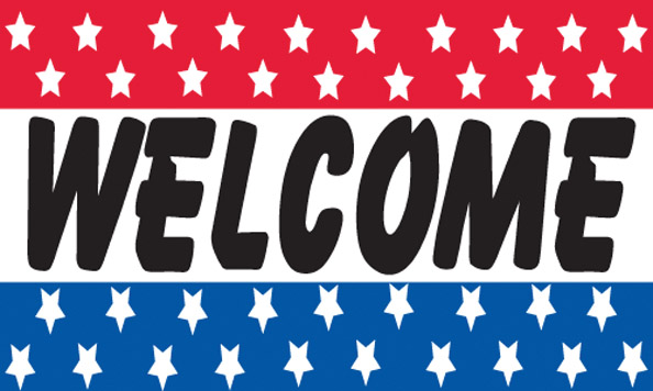 WELCOME flag banner sign 3x5ft [welcome-315] - $6.00 ...