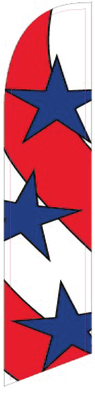 Usa stars and stripes swooper flag