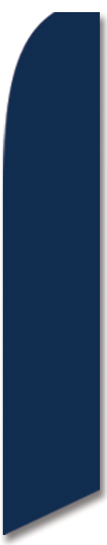 Solid color blue swooper banner sign flag