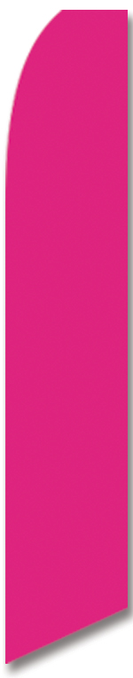 Solid color magenta swooper banner sign flag