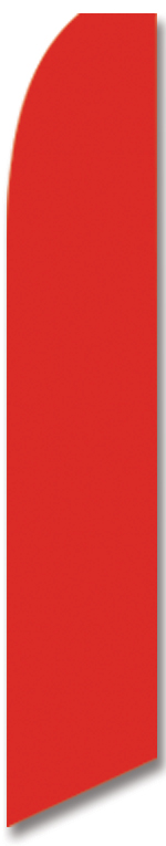 Solid color red swooper flag