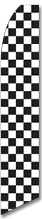 Checkered black/white swooper flag