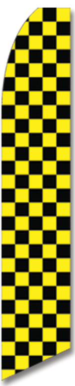 Checkered black/yellow swooper flag