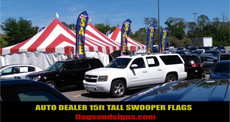 Auto Car Dealer Swooper Flags
