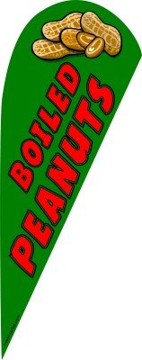 Boiled peanuts feather flag kit green