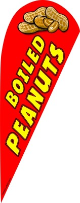 Boiled peanuts feather flag kit red
