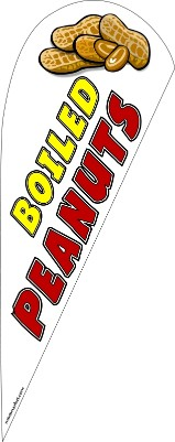 Boiled peanuts feather flag kit white